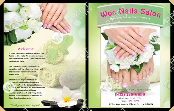 nails salon vn print solution nails salon printing design services